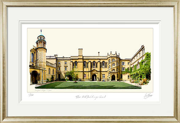 Hertford College Oxford. The Old Buildings Quad